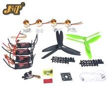 JMT Opensource Flight Control 20A 1400KV Motor Brushless ESC EMAX 7045 Hélice para CC3D 250 4-eixo DIY Mini zangão
