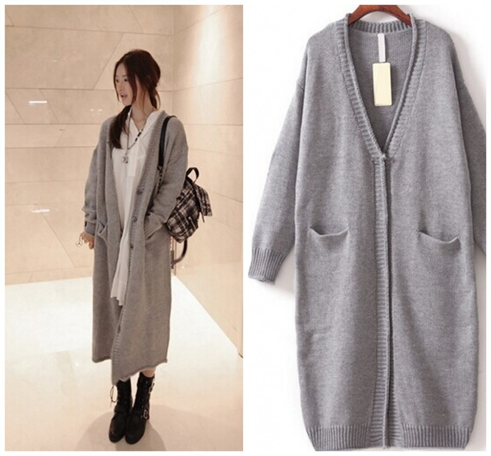 Long Gray Sweater Coat - Coat Nj
