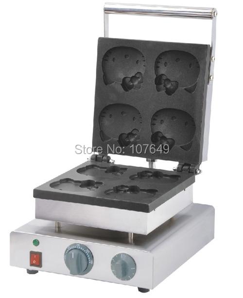 Hot Sale 110v 220V Commercial Use Electric Cat Waffle Maker Iron Machine Baker hot sale 32pcs gas bean waffle maker