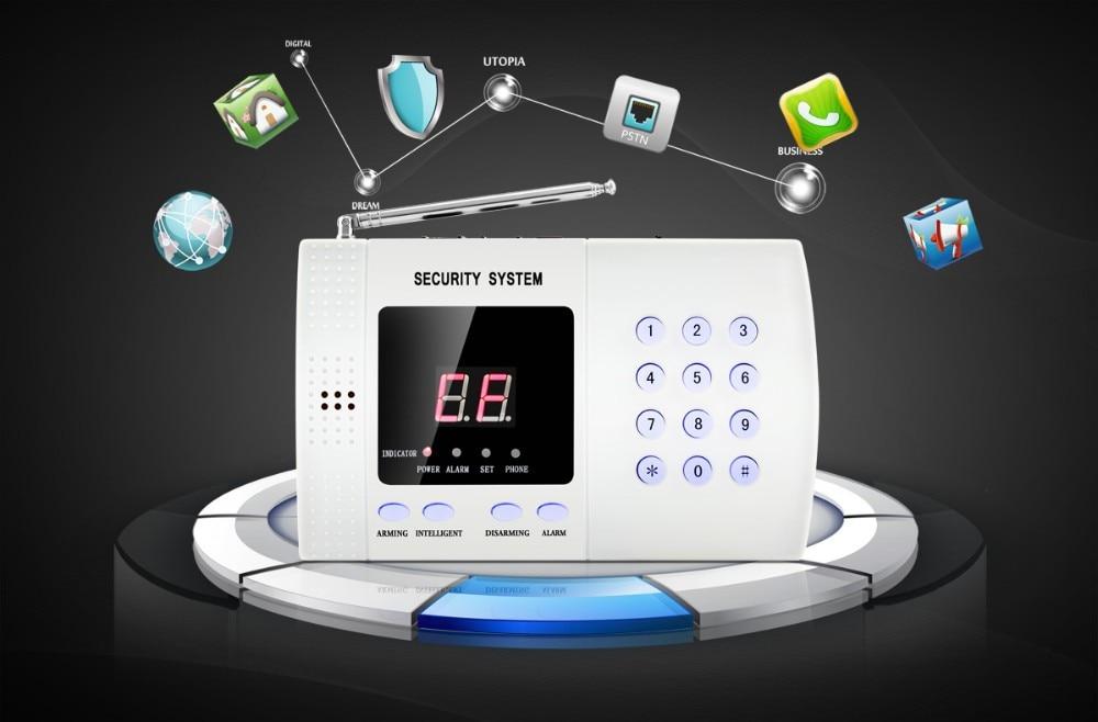 K05 Pstn 99 Zones Wireless Pir Home Security Burglar Alarm System Auto