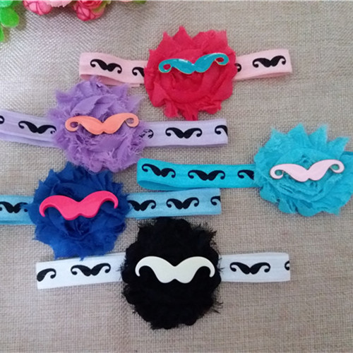 Clearance Sales! fashion baby cloth flower headbands newborn baby headdress cute moustache new style lowest price 5pcs/lot