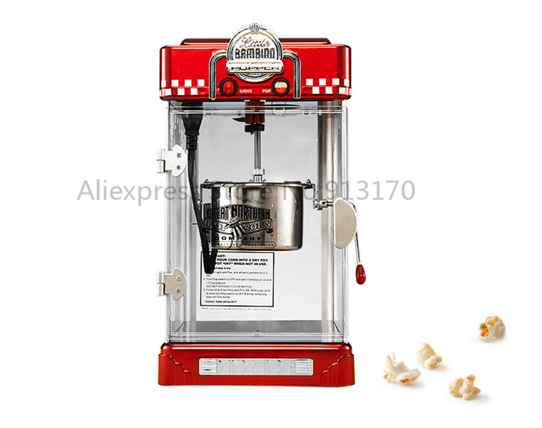 Popcorn Machine Electric Antique  popcorn maker non-stick Pot with self-warming bulb 2oz 220v 3 Minutes batchPopcorn Machine Electric Antique  popcorn maker non-stick Pot with self-warming bulb 2oz 220v 3 Minutes batch