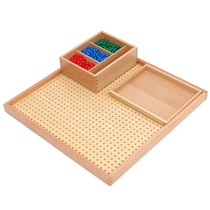Preskool Montessori Éducation des Enfants Jouets Pour Enfants En Bois Peg Conseil Ensemble Mathématiques Jouet Formation Jeu Brinquedos Juguets - 3