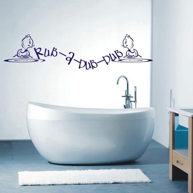 Free Shipping Rub A Dub Dub Bathroom Wall Art Sticker quotes Small ...