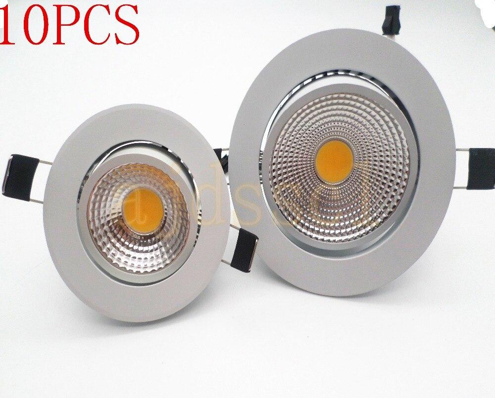 LED downlight  10x Led spot light COB Ceiling Spot Light 3w 5w 7w 12w 110V/220V 85-265V ceiling recessed Lights Indoor Lighting