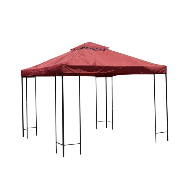 Double Tier 3*3m Gazebo Top Cover Waterproof Oxford Cloth Top Cover Patio  Canopy
