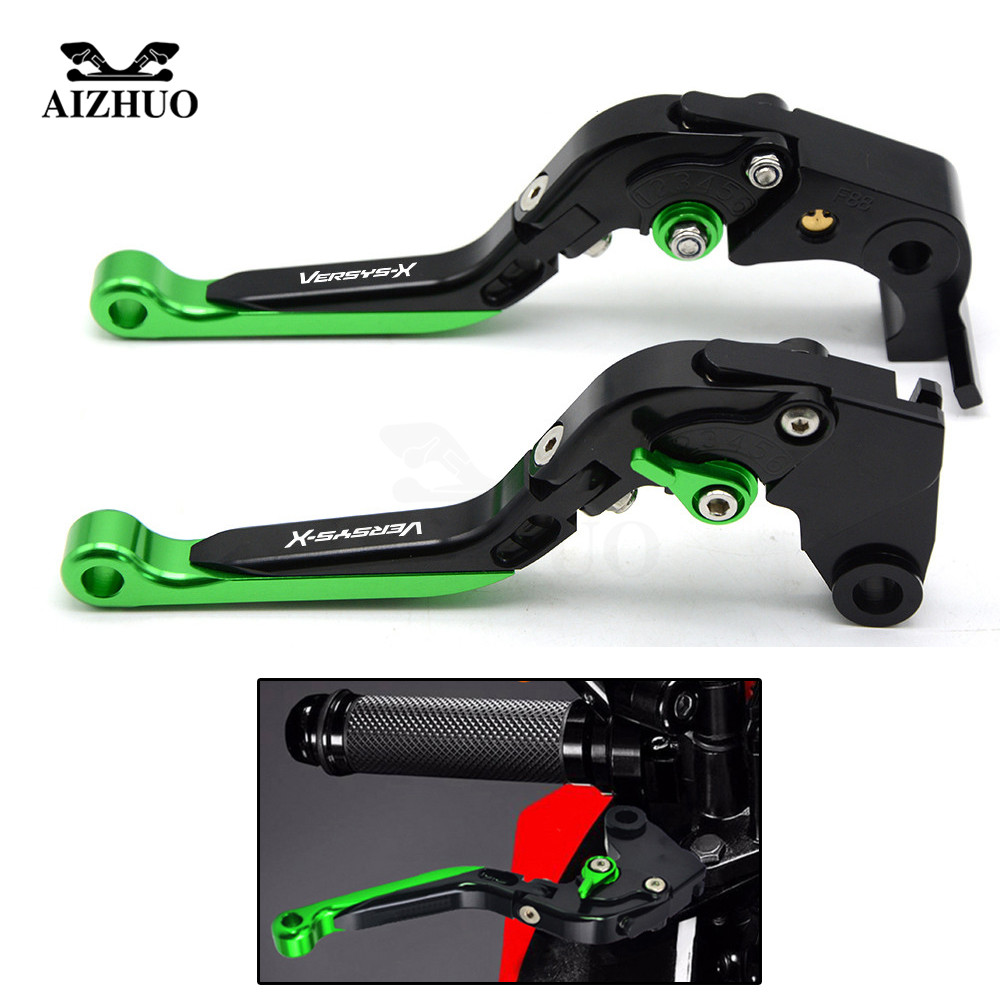 Motorcycle Accessories CNC Aluminum Adjustable Folding Extendable Clutch Brake Levers For Kawasaki Versys 300X 2008-2017 free shipping for ducati multistrada 1200 s m1100 s evo motorcycle accessories cnc adjustable folding brake clutch levers red