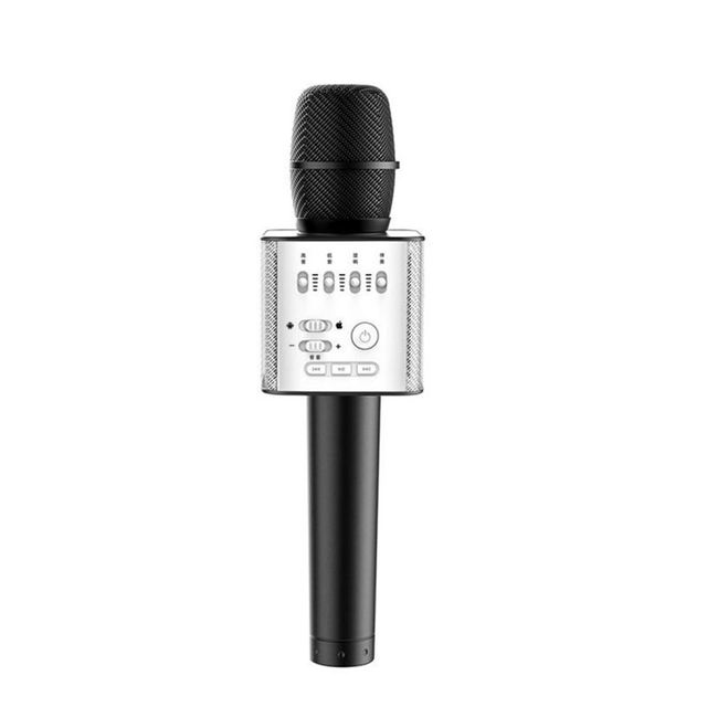 2017 New bluetooth karaoke microphone For iphone 7 Bluetooth Handheld Portable Microphone For Smartphones Sing Song APP Black Q9