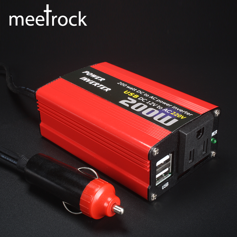 200 watt auto power inverter dc 12 v zu ac 220 v und ac 110 v converter usb ladegerät adapter 150 watt tragbare auto geändert sparen 12 220 180 watt