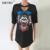 Sibybo sexy mulheres camiseta verão 2017 pin esqueleto estilo de rua impressão de manga curta com decote em v t-shirt mulheres clothing