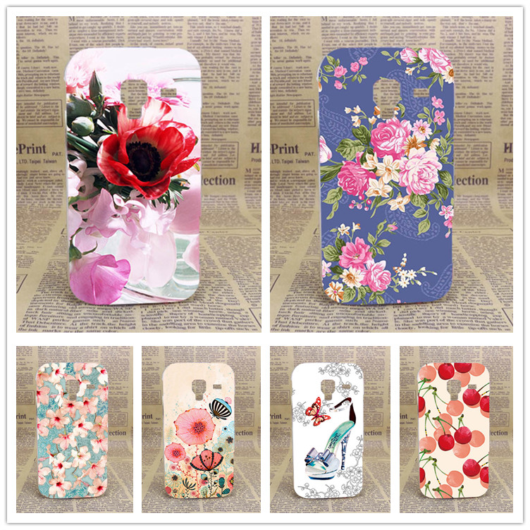High Quality Diy UV Painting Colored Flowers Fruit Hard PC Case Cover For Samsung Galaxy Ace 2 II i8160 GT-i8160 Cases Sheer Bag