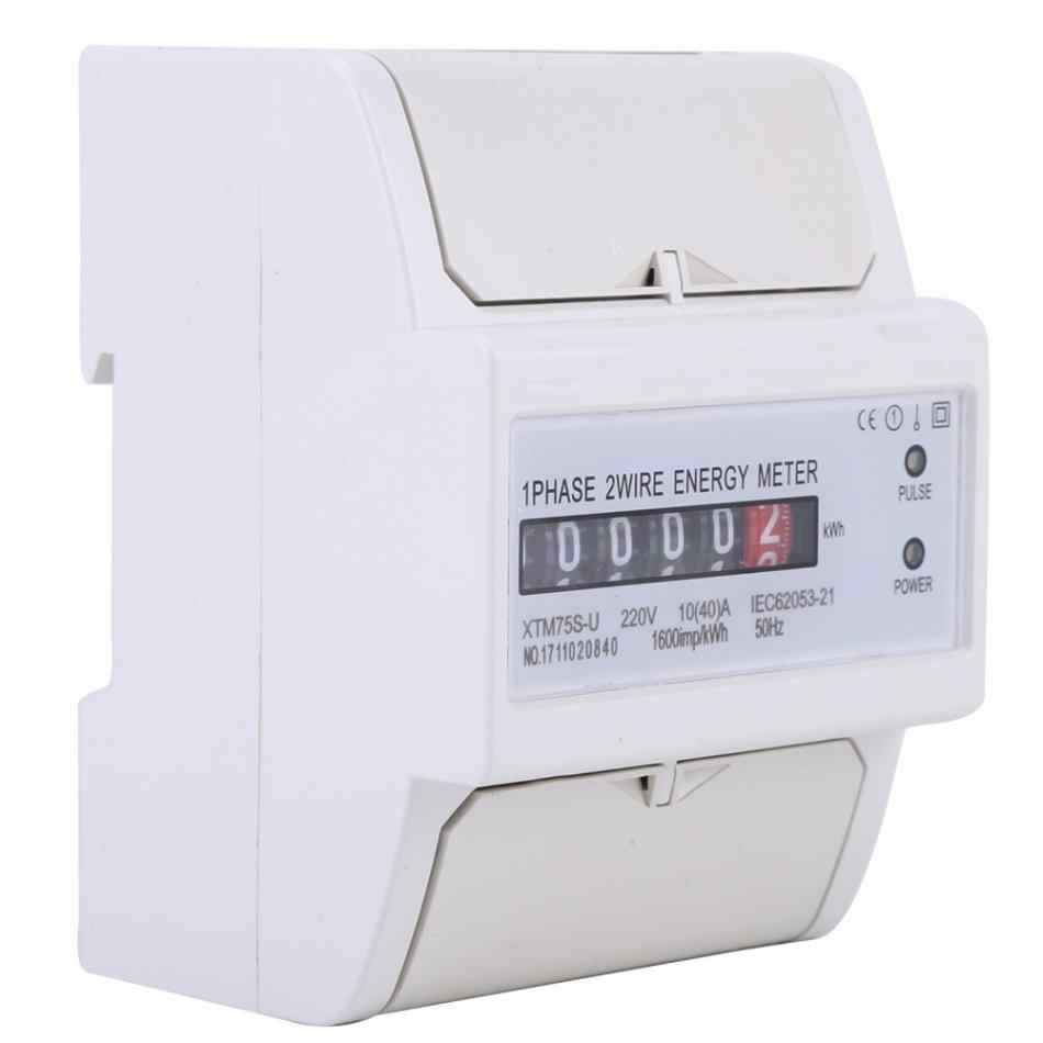 hight resolution of  ac 220v 50hz 1 phase 2 wire energy meter din rail electronic meter energy kwh meter