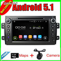 8 ''Envío Libre Quad Core Android 5.1 GPS de Radio Del Coche para Suzuki SX4 2006-2012 Con Espejo Enlace 16 GB Flash Multimedia vídeo
