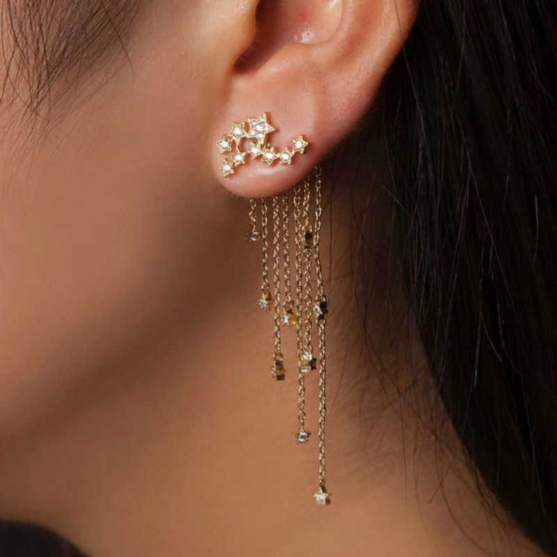 Hot Sale  Earings Fashion Jewelry Boho Long Fringed Stars Hanging Earrings Oorbellen Pendientes Brincos Earrings For Women