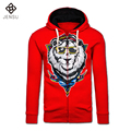 2016 Men Winter Zipper Funny Hoodies Jackets Coats Sweatshirts Cardigans Men's Casual Fashion Slim Fit Thick Fleece Hooded Coats