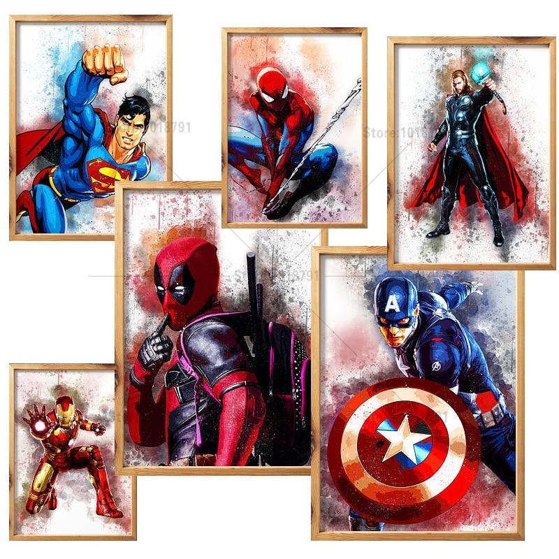 Diy Diamond Paintings Thor Iron Man Spider-man Captain America Diamond Painting Embroidery Dmc Needlework Patterns Kits