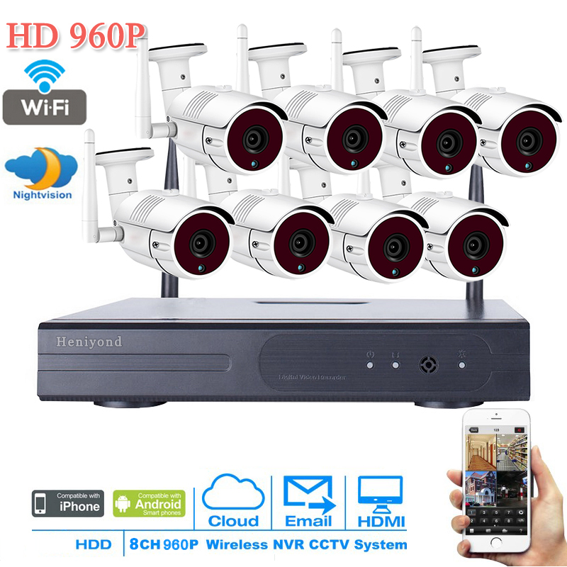 1.3MP CCTV System 960P 8CH HD Wireless NVR kit 3TB HDD Outdoor IR Night Vision IP Wifi Camera Security System Surveillance cctv system 960p 8ch hd wireless nvr kit outdoor ir night vision home security system surveillance ip camera wifi camera kit 42