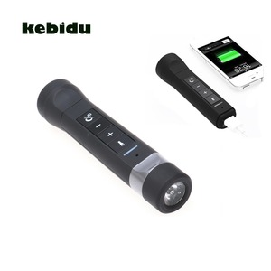 Image 2 - kebidu 2017 Mini USB Rechargeable Bicycle Bright LED Flashlight Music Player Wireless Bluetooth Speaker Bike Cycling Light