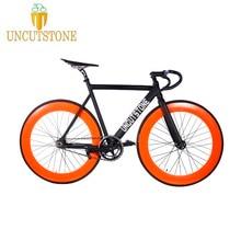 Fixed Gear bike  frame 53cm 55cm 58cm Aluminum alloy Bike Track Bicycle 70mm 700C wheel Fixie