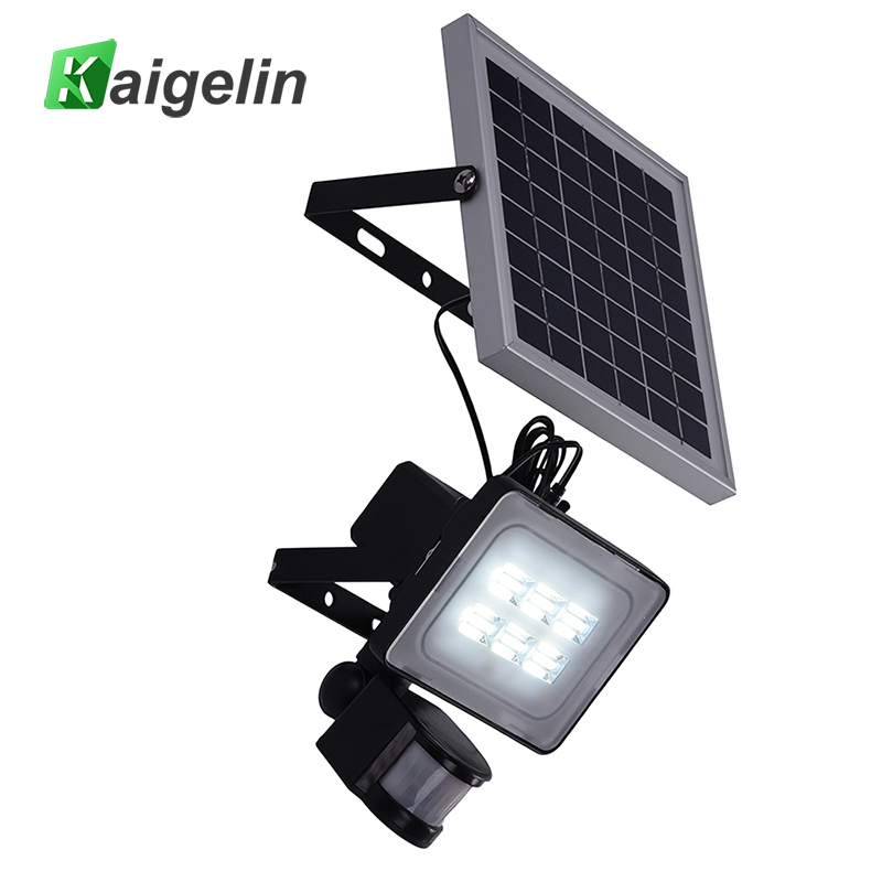 2 Pcs 10W 12V Solar PIR Motion Sensor Induction LED Flood Light 1200LM Solar Lamp IP65 SMD2835 Solar Powered Garden Floodlight