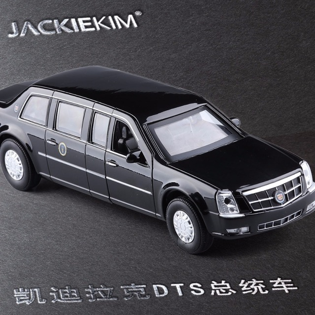 New 1:32 Cadillac DTS Alloy Car Model US. Presidential Limousine ...