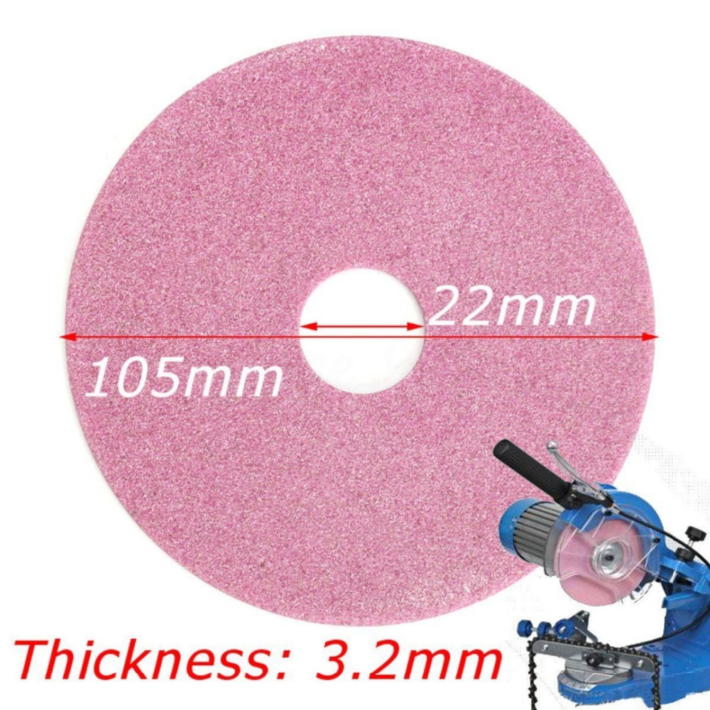 2Pcs Grinding Wheel Disc 105x3.2mm For Chainsaw Sharpener Grinder 325 & 3/8lp Chain