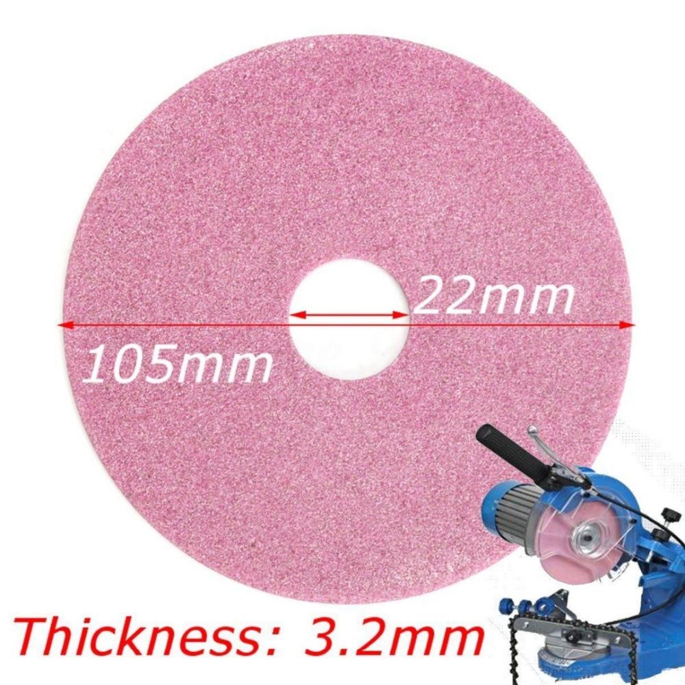 2Pcs Grinding Wheel Disc 105x3.2mm For Chainsaw Sharpener Grinder 325 & 3/8lp Chain