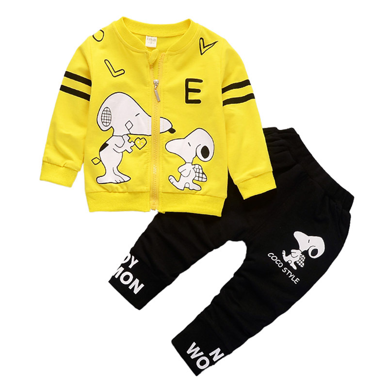 BibiCola Boys Clothing Sets Children Cartoon Dog Sport Suit Set Kids Jackets Outwear + Pants 2pcs Clothing Tracksuit For Boys
