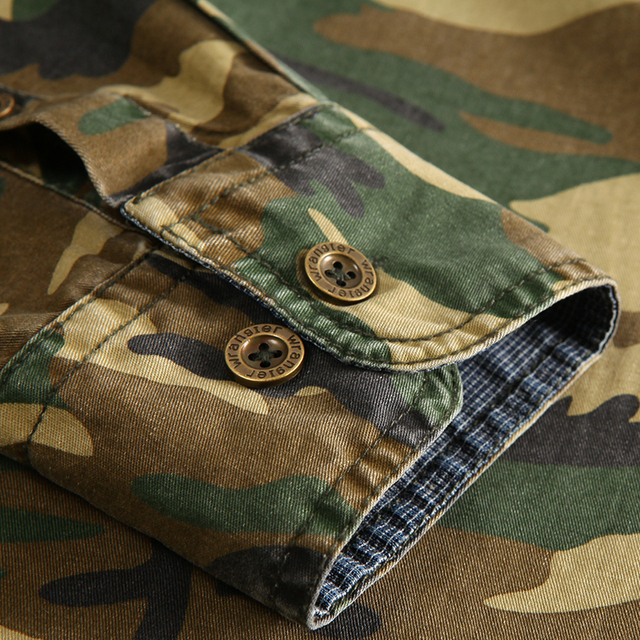 100% Cotton Camouflage Breathable Army Combat casual Shirts  4