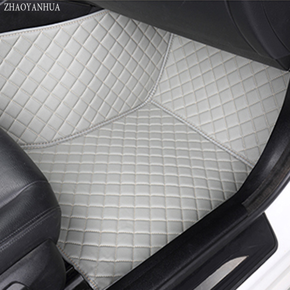 ZHAOYANHUA Car floor mats for BMW 3 series F30 F31 F34 GT Gran Turismo 320i 335i 318d 320d 325D 328d 330d 335D 5D carpet liners car interior accessories leather floor mats carpets pad for bmw 3 series f30 2013 2014 2015 2016