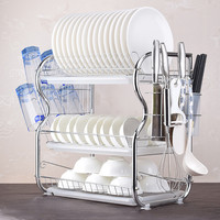 3 Tier Dish Drying Rack Kitchen Collection Shelf Drainer Organizer Dish Drainer Dish Rack Stainless Steel