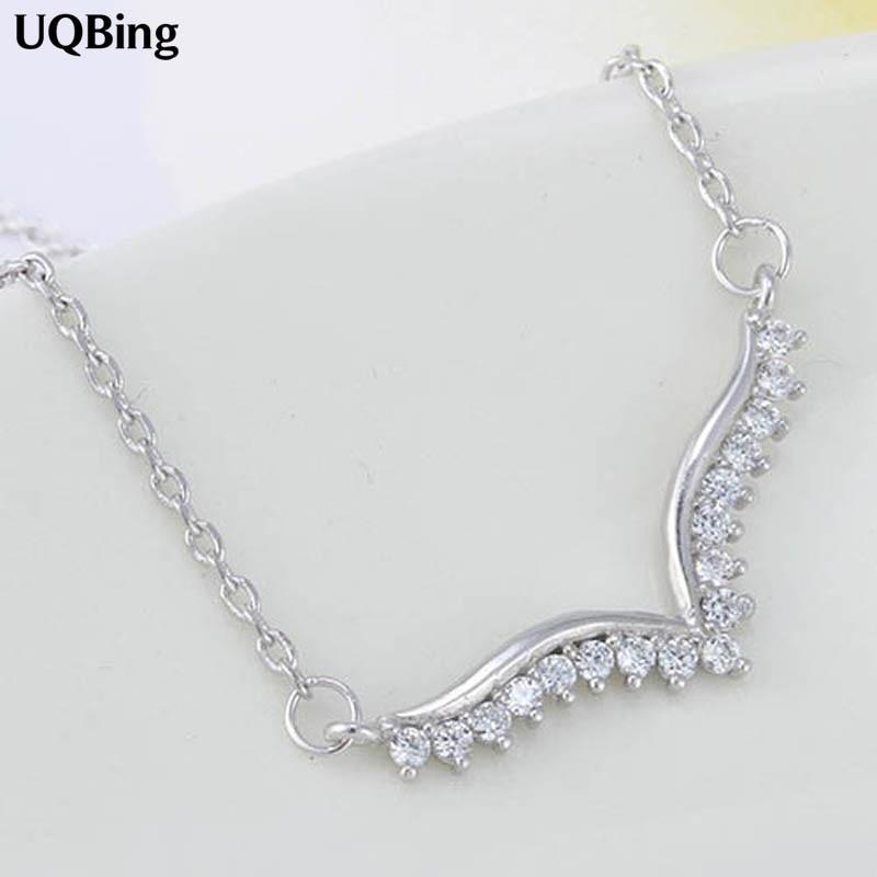 2016 Neue 925 Sterling Silber Kristall Flügel Halsketten & Anhänger Reine Sterling Silber Halsband Halskette Schmuck Kragen Colar