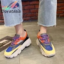 DORATASIA New INS Hot Retro mixed-color Platform Sneakers Women 2019 Autumn Fashion Dad Shoes Casual Woman