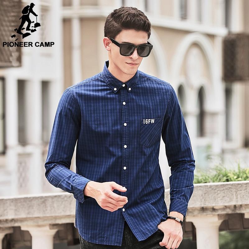 Pioneer Camp chemise à carreaux hommes manches longues nouvelle - Vêtements pour hommes - Photo 2