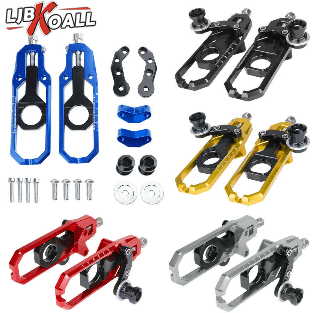 CNC Motorcycle Chain Adjusters Tensioner Axle Swingarm Spool For Suzuki GSX R 600 GSXR750 GSXR600 750