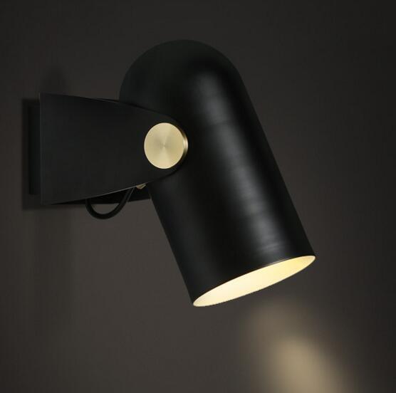 Hierro negro pared moderna luz LED inicio Iluminacin Sala