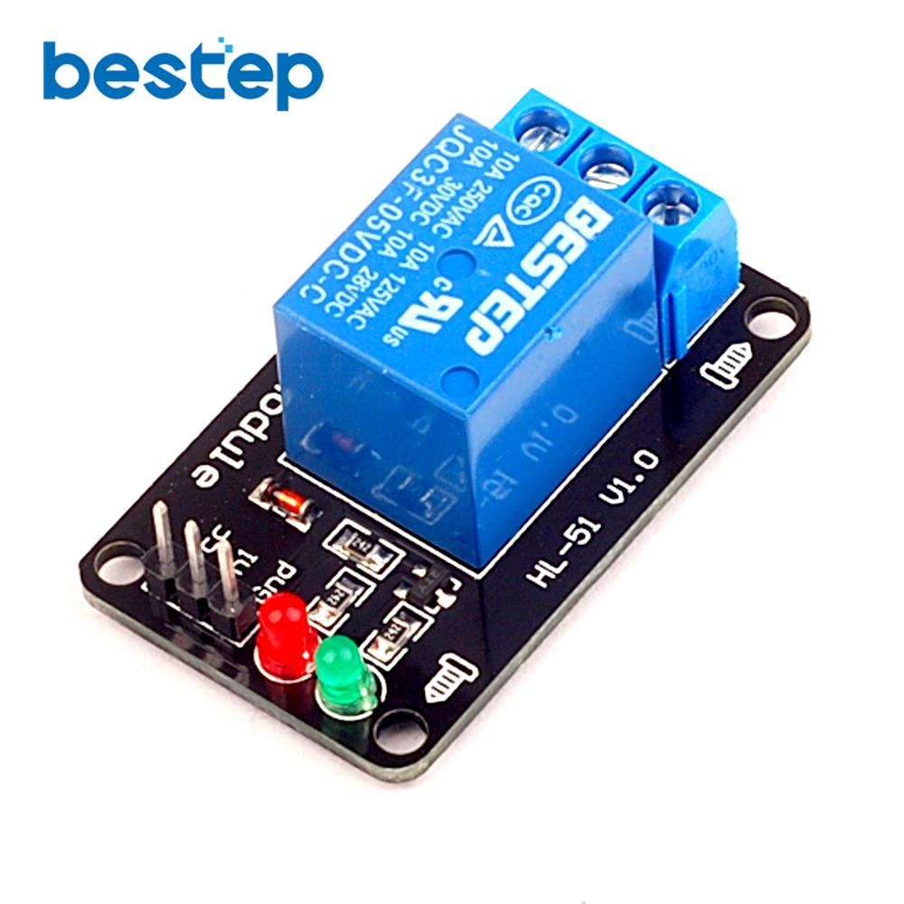 20pcs 1 Channel Relay Module 5v Lamp Low Level For Scm Electronic Control Household Appliance Free Shipping