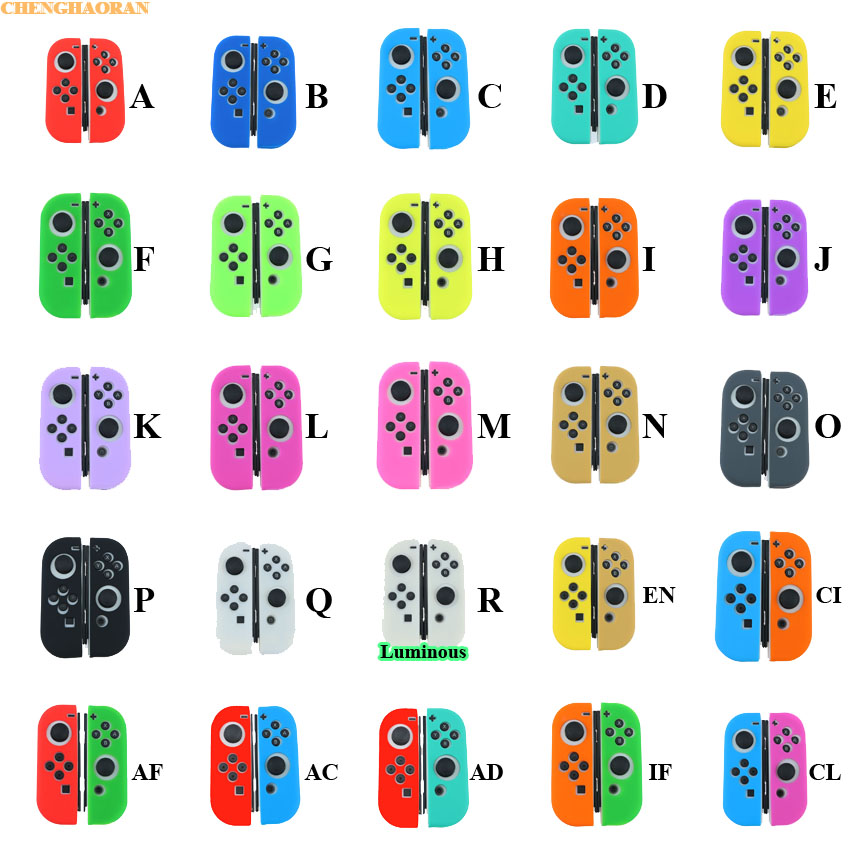 (1) Solid Color 18colors Case For Nintend Switch Joycon Cover Soft Silicone Case For NS Switch Controller Grip Joy-con Cover