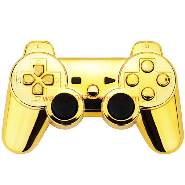 100 high quality custom gold chrome shell mod kit matching buttons set for ps3 - Manette Ps3 Color