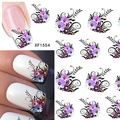 2sheets Hot DIY Designs Nail Art Beauty Flower French Tips Water Stickers Nail Decals Decorations on Nails Tools XF1554