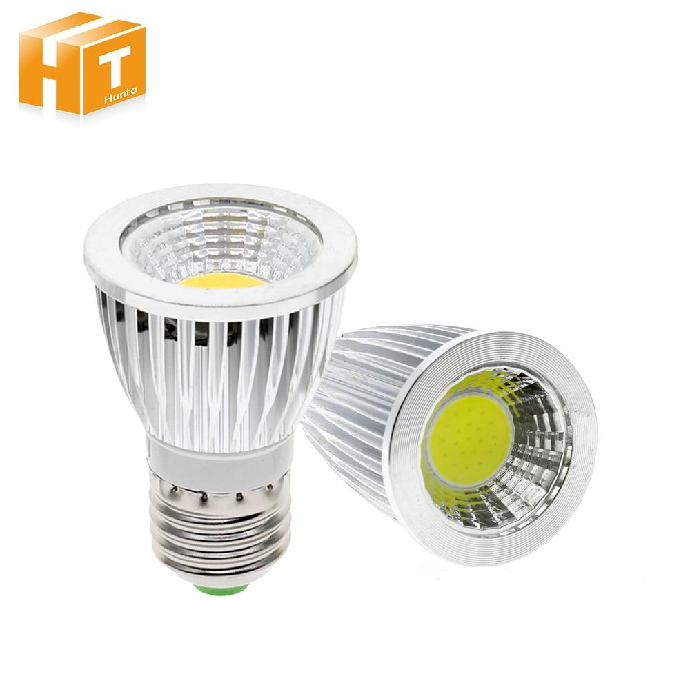 4Pcs/Lot LED Spotlight E27 GU10 GU5.3 MR16 Spot Light Lamp 3W 5W 7W 9W AC85-265V White / Warm White Lighting Bulb