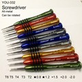 New All-Metal Rotated Insulation Screwdriver Professional Repair Tools lotted Torx Hex For IPhone/Samsung/NOKIA