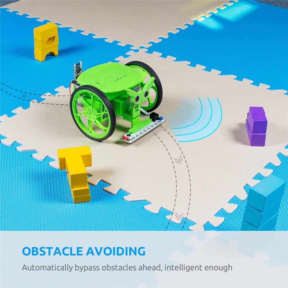 SunFounder Rollman STEM Learning Educational DIY Robot Kit Bluetooth APP Control High Tech Robot Toy