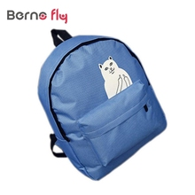 New arrival Campus Female Girls Women Backpack Teenager Canvas Bag Cute Animal Printed Rucksack LaptopTravel Bag