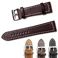 100% Genuine High Quality Leather Watch Band Wrist Strap With Stainless steel Buckles Watchband 18mm 20mm 22mm 24mm Black Brown