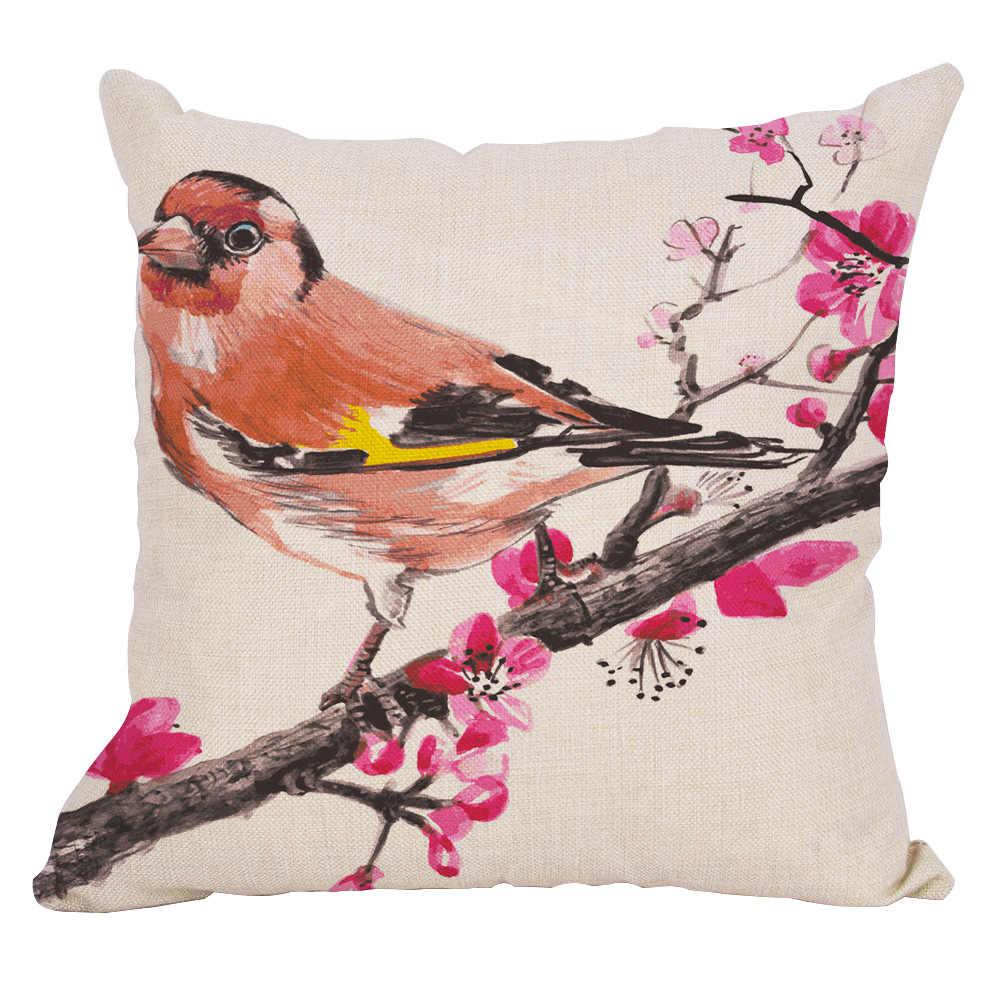 الزهور الأشجار الطيور المخدة غطاء وسادة المنزل وسائد زينة يتم إلقاءها للتزيين غطاء وسادة