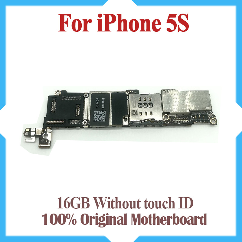 unlocked motherboard without Touch ID for iphone 5S IOS system logic board 16GB original mainboard 100% Tested goods working