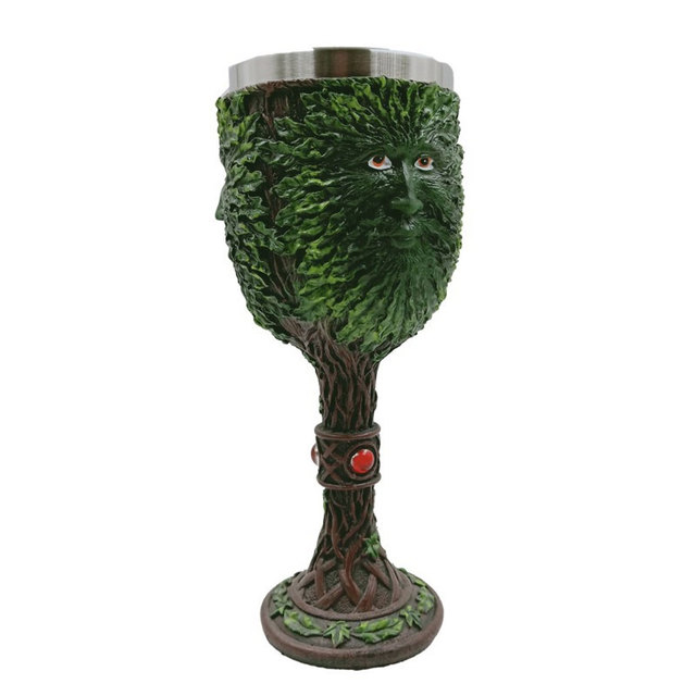 3D Patterned Stainless Steel Wine Goblet