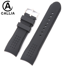 24MM casual balanceds men For Casio EDIFICE Waterproof silicone black rubber Watchband Strap Wristwatch accessories Watch Band