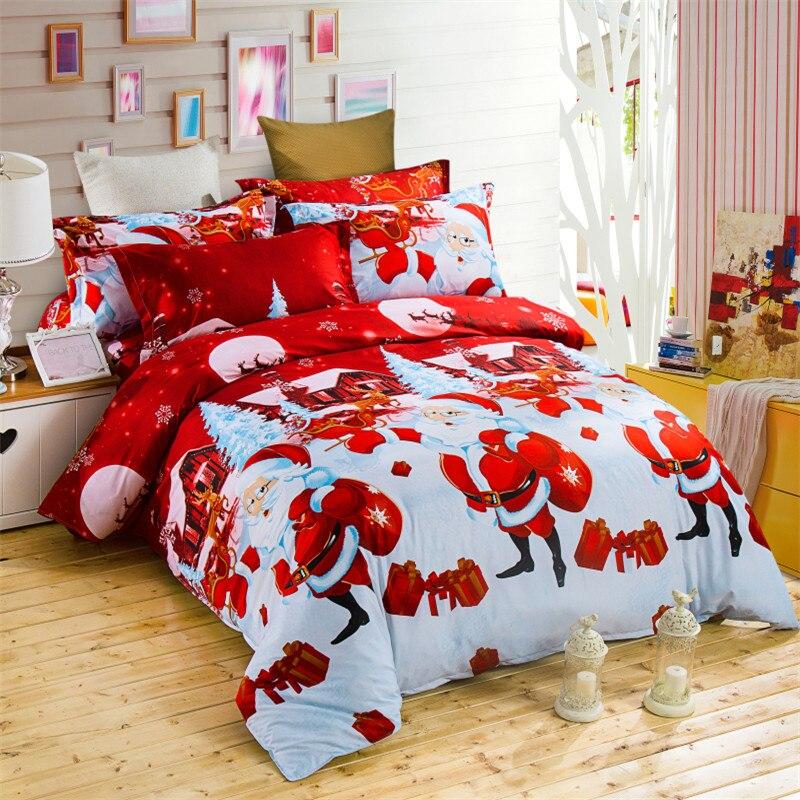 3D merry Christmas bedding set 4pcs queen nice beauty fairness cosiness duvet set comfortable .queen.